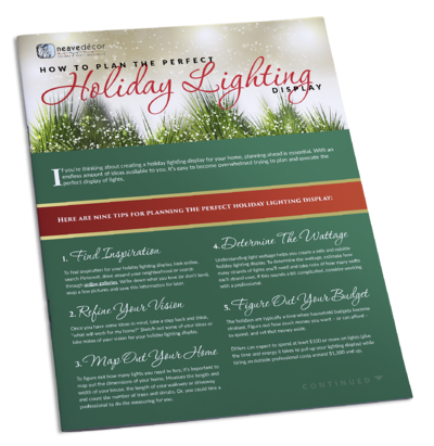 neave holiday lighting tip sheet book